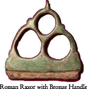 Roman Razor w Bronze Handle